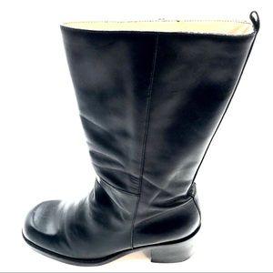Nine West Black Leather Boots, Size 7.5 , EUC